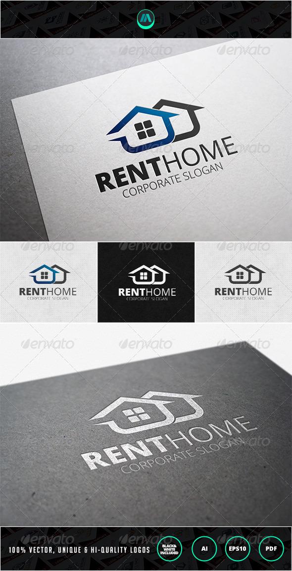 Rent Home Logo Template - Buildings Logo Templates