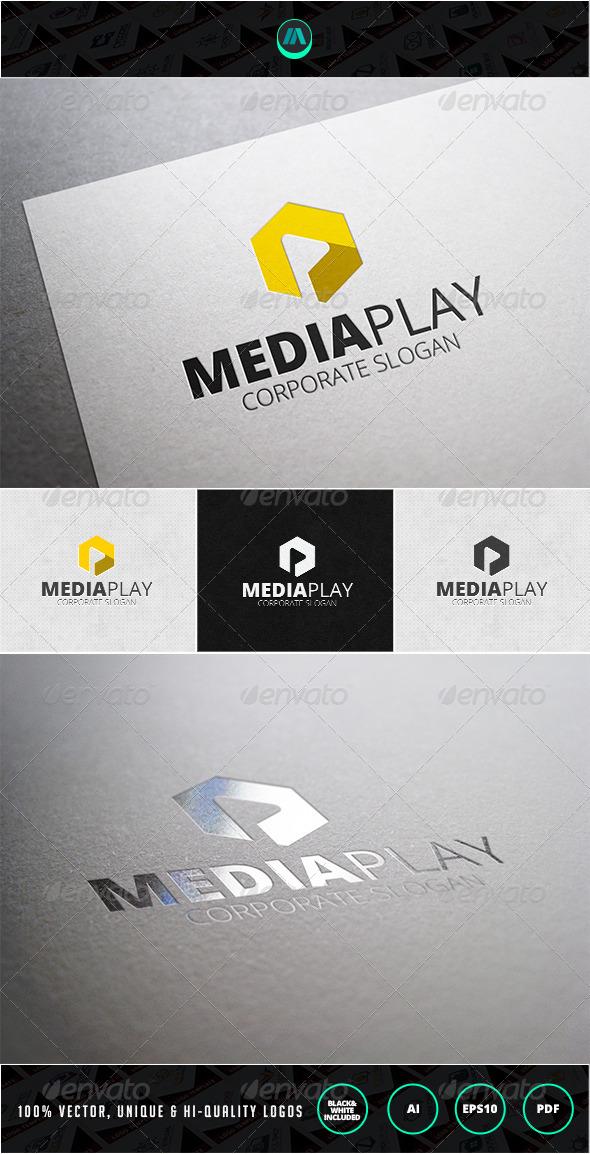 Media Play Logo Template - Objects Logo Templates