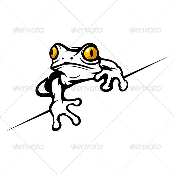 Cartoon Tropical Frog  - Animals Characters