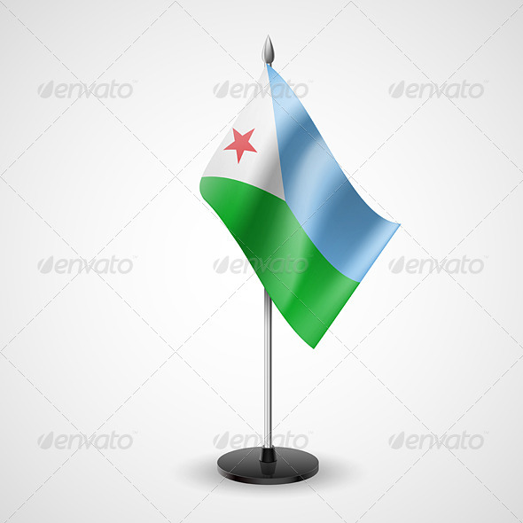 Table Flag of Djibouti - Miscellaneous Vectors
