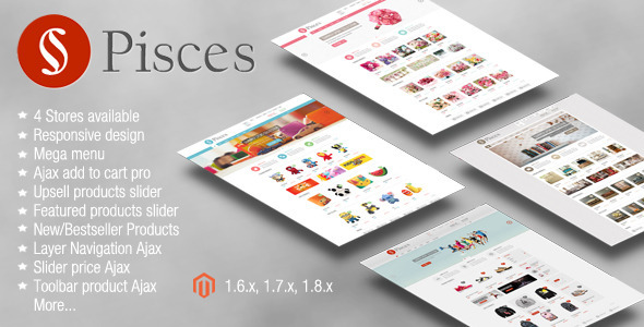 Pisces - Multipurpose Responsive Magento Theme - Shopping Magento