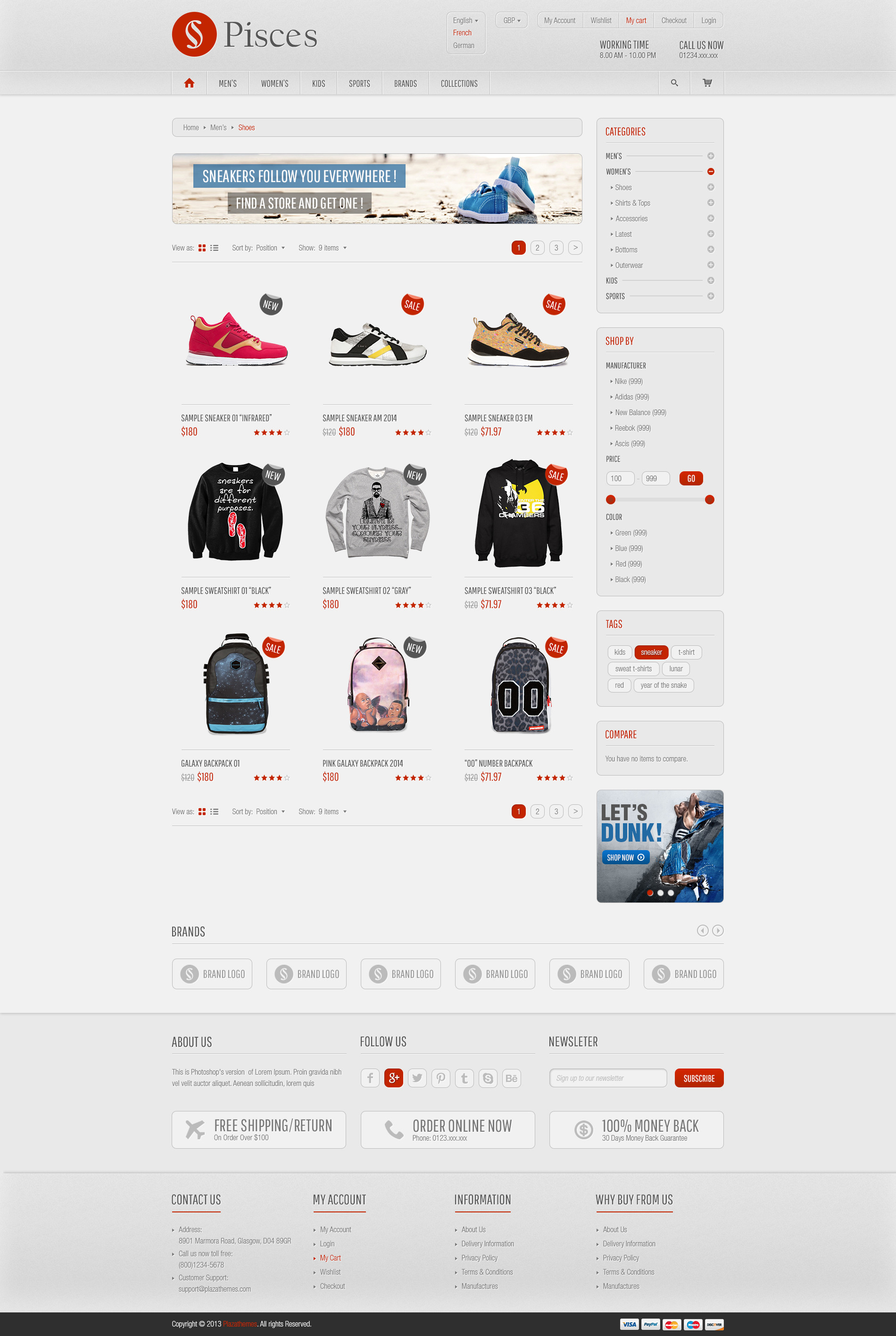 Pisces Multipurpose Responsive Magento Theme By Plaza