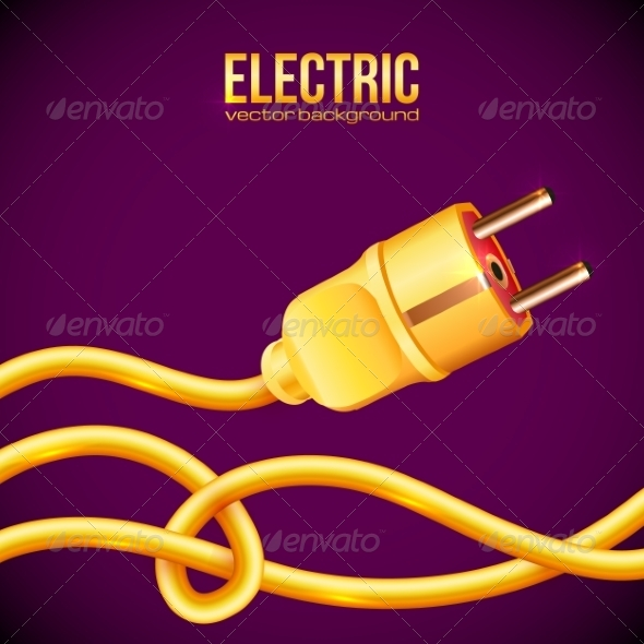 Yellow Electric Plug and Cables - Computers Technology
