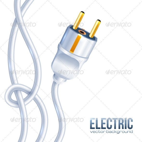 White Electric Plug and Cables - Computers Technology