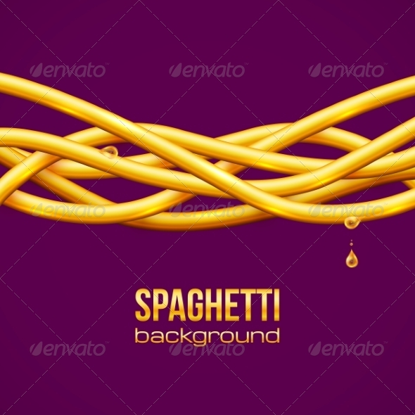 Spaghetti Vector Background - Food Objects