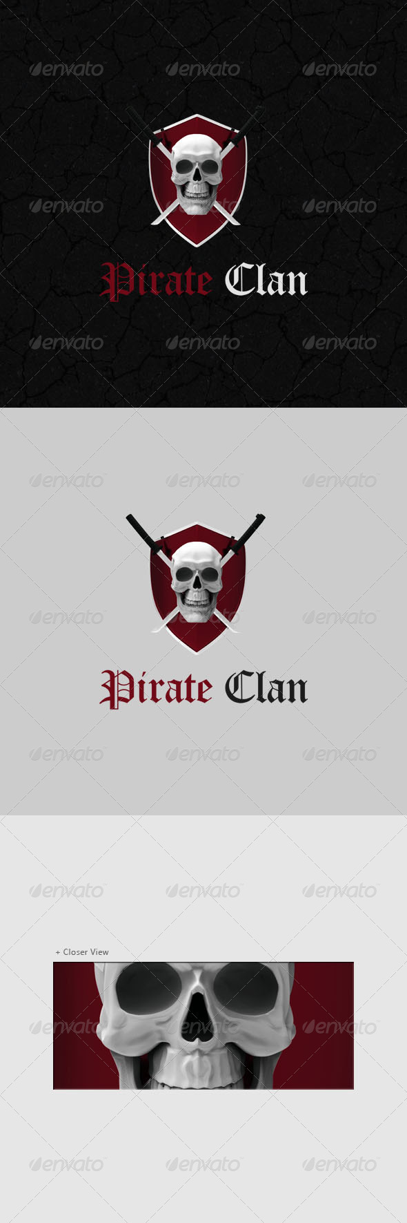 Pirate Logo 3D - 3d Abstract