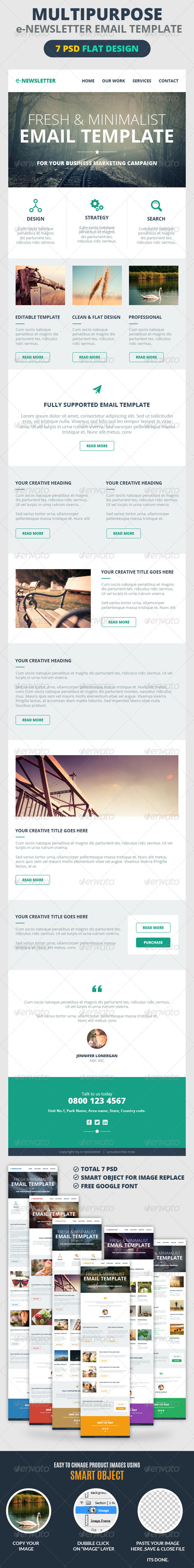 Multipurpose E-Newsletter Email Template - E-newsletters Web Elements