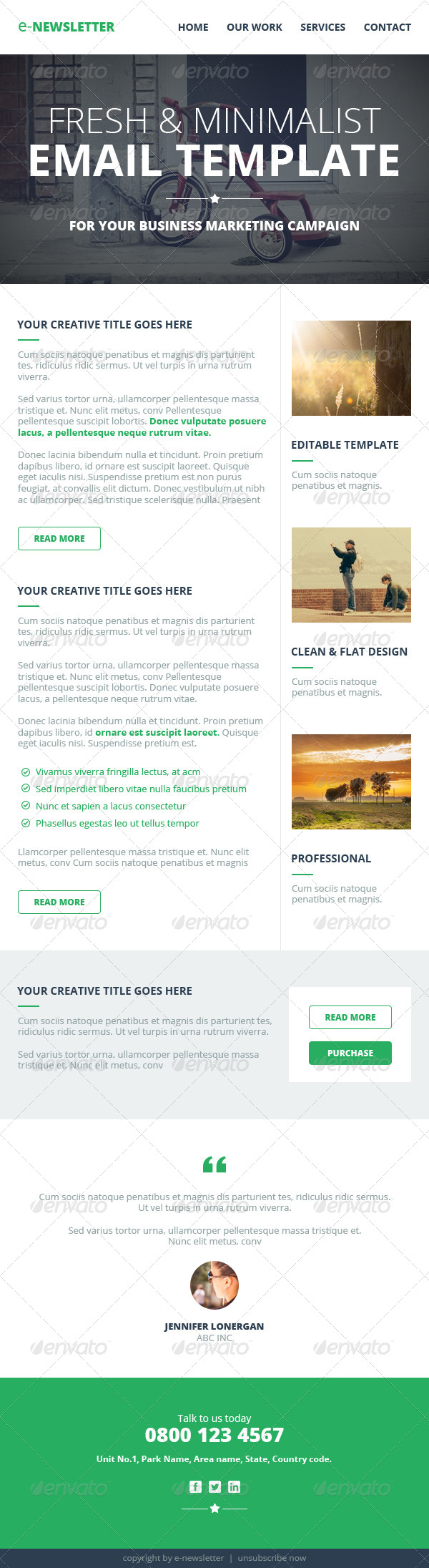 Multipurpose E Newsletter Email Template By Webduck Graphicriver