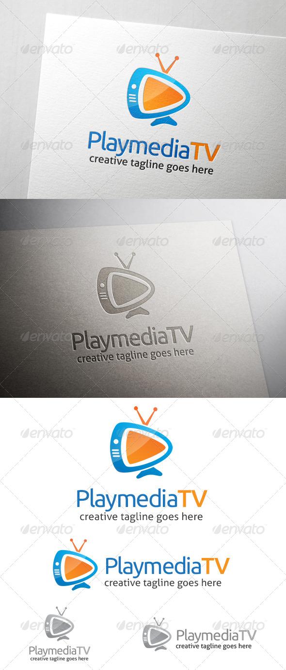 Play Media TV Logo - Objects Logo Templates