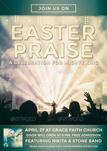 Easter Praise Flyer/Poster Template by JunPonda | GraphicRiver