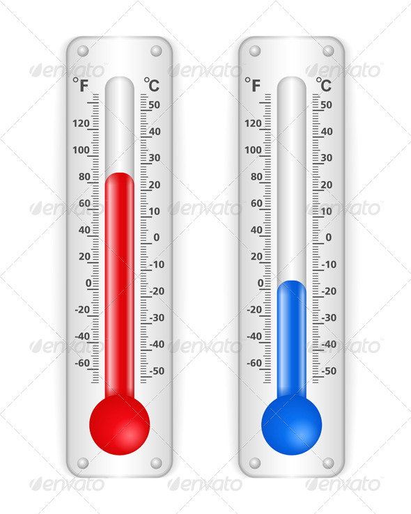 Thermometers - Objects Vectors