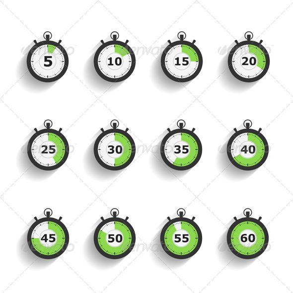 Stopwatch Icons - Web Elements Vectors