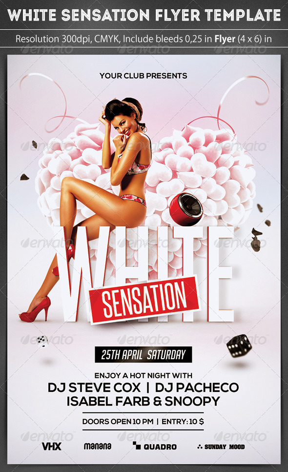 White Sensation Party Flyer - Clubs & Parties Events