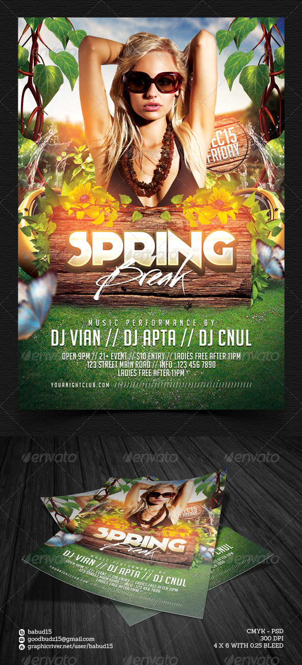 Spring Break Flyer Template - Events Flyers