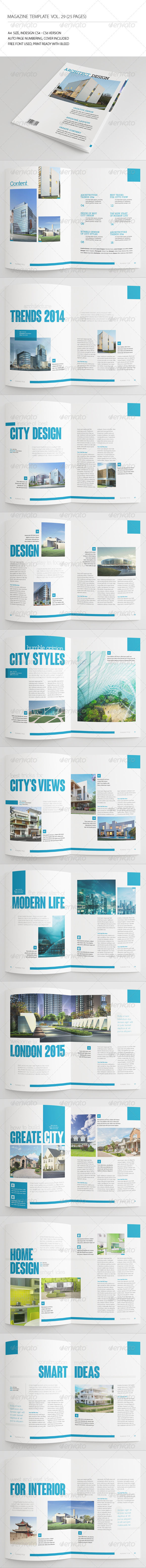 25 Pages Architecture Magazine Vol29 - Magazines Print Templates