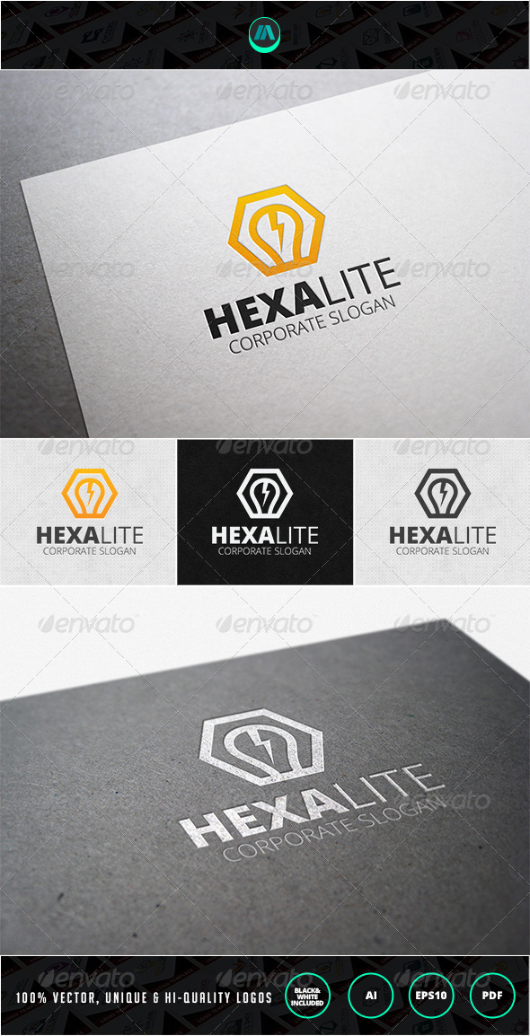 Hexa Lite Logo Template - Nature Logo Templates