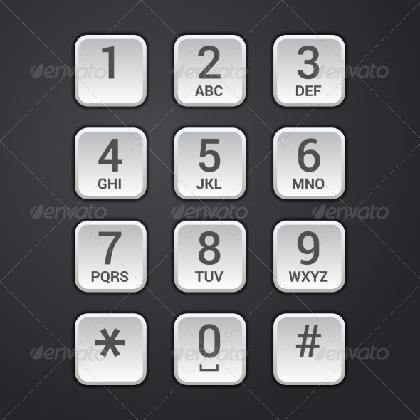 Digital dial plate of security lock or telephone k - Computers Technology