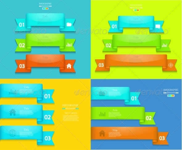 Vector Modern Infographics Element Design - Backgrounds Business