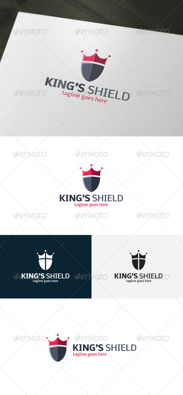 Kings Shield Logo - Symbols Logo Templates
