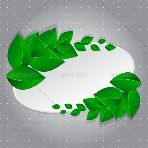 Frame with Green Leaves - Backgrounds Decorative