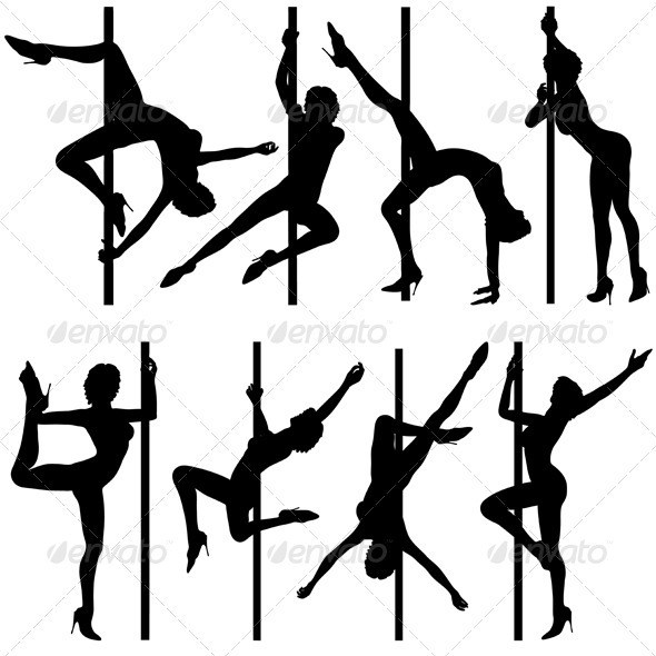 Collect dancing silhouettes - People Characters