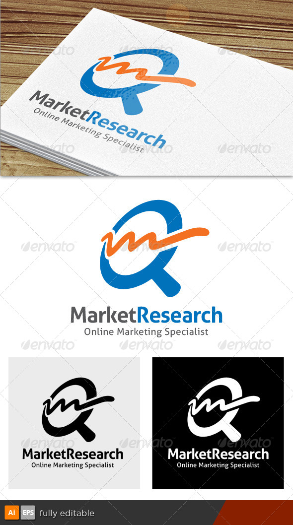 Market Research Logo - Letters Logo Templates