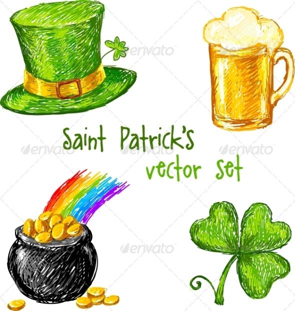 Sketch Saint Patrick Day Set - Miscellaneous Seasons/Holidays
