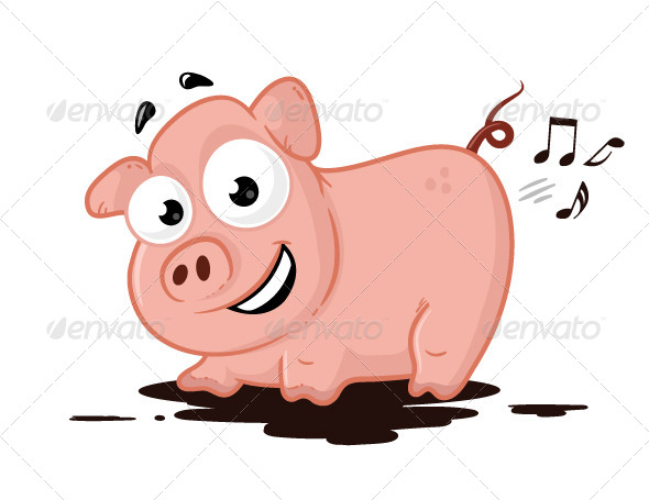 Pig Musician - Animals Characters