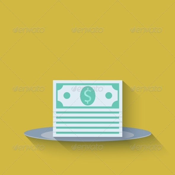 Modern Flat Money Background - Concepts Business
