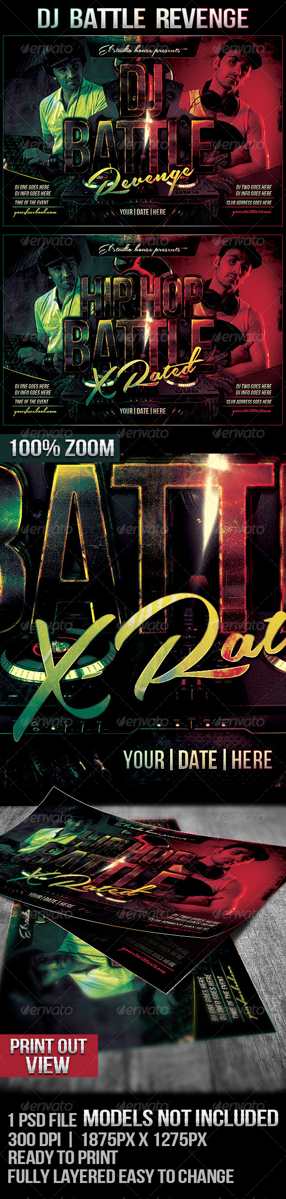 Dj Battle Revenge Rave Flyer - Flyers Print Templates