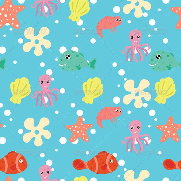 Sea - Animals Characters