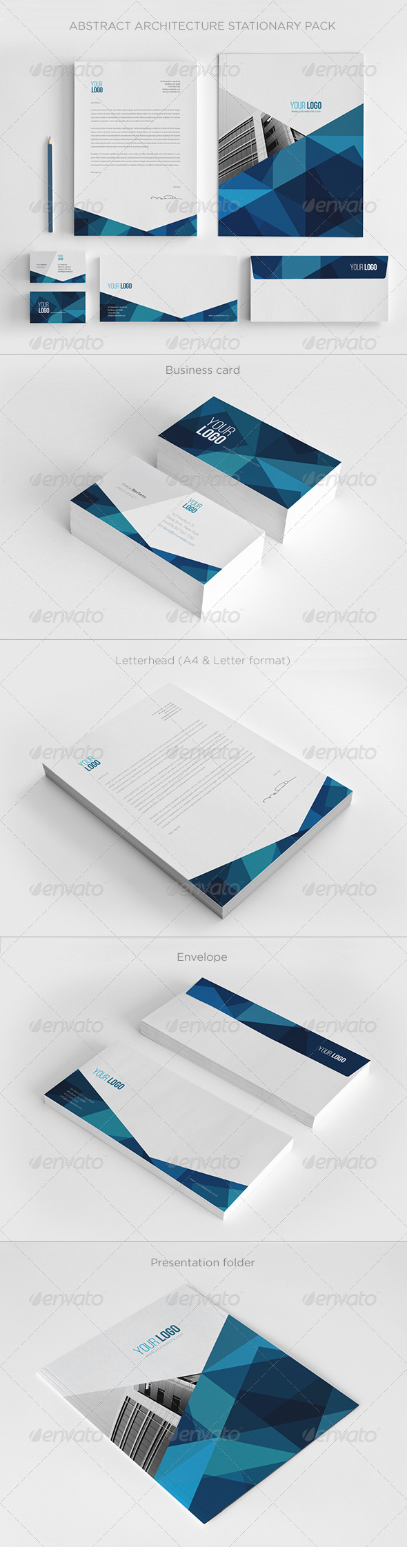 Abstract Architecture Stationery Pack - Stationery Print Templates