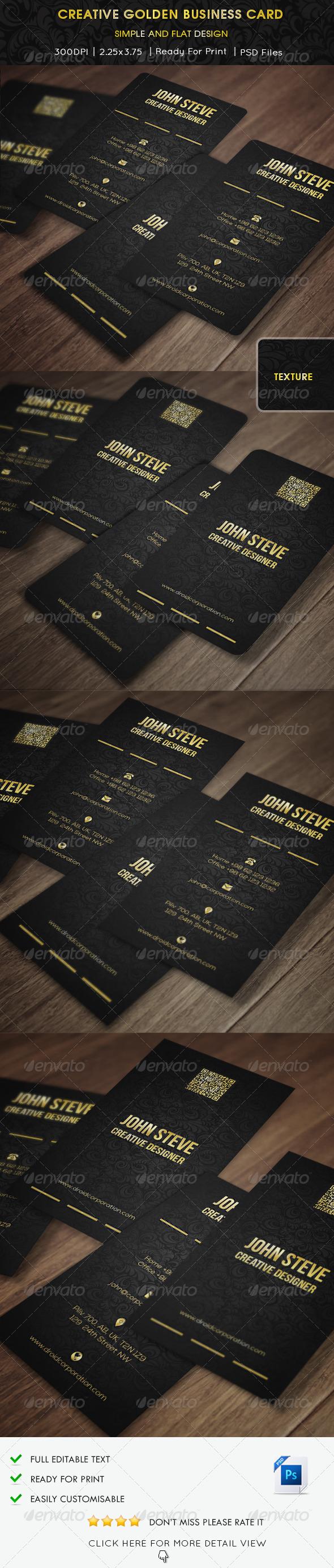 Creative Golden Business Card - Creative Business Cards