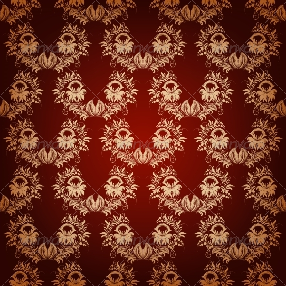 Seamless with Elegant Damask Pattern - Backgrounds Decorative