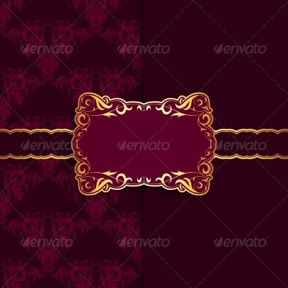 Template Frame Design for Greeting Card - Backgrounds Decorative