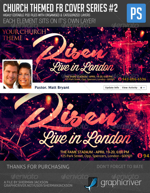 Church/Christian Themed FB Cover Series#2 - Facebook Timeline Covers Social Media
