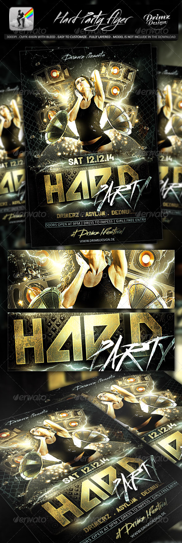 Hard Party Flyer - Events Flyers