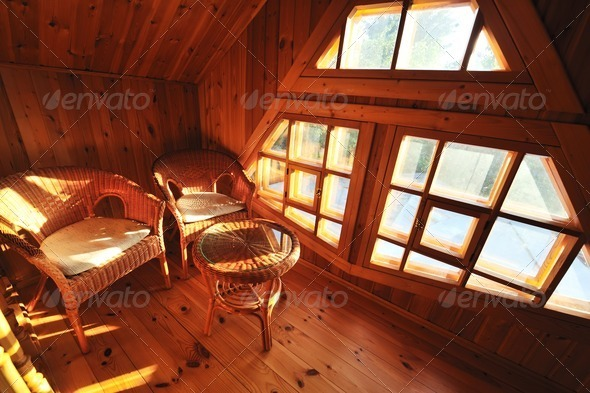 Wooden interior - Stock Photo - Images