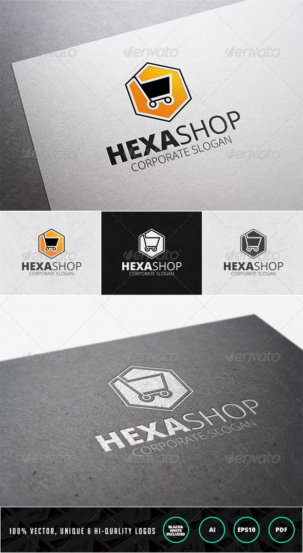 Hexa Shop Logo Template - Objects Logo Templates