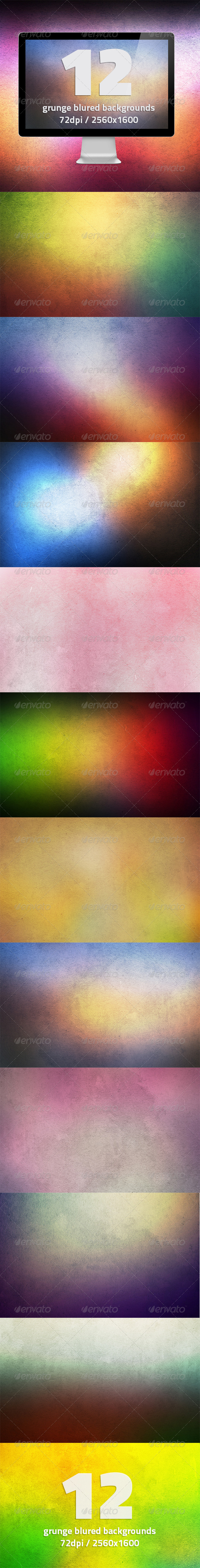 12 HQ Grunge Blurred Backgrounds Vol.2 - Abstract Backgrounds