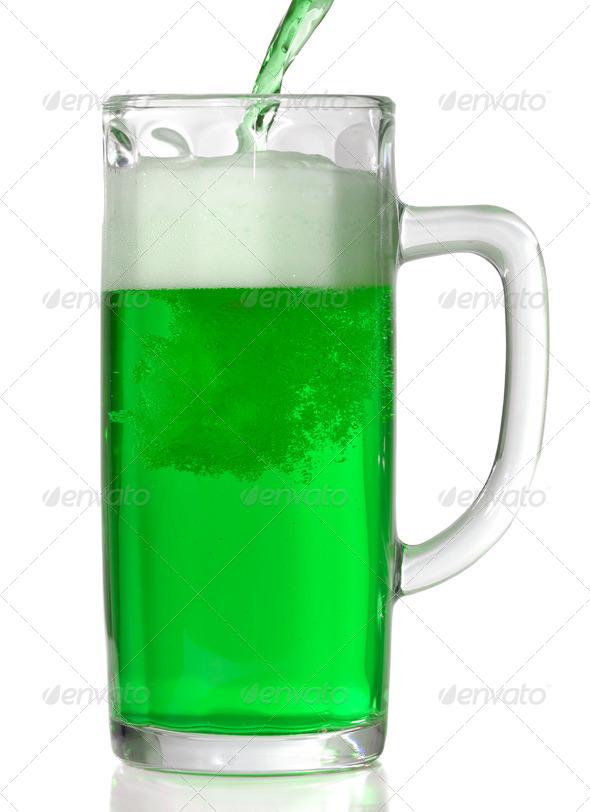 Green Beer mug - Stock Photo - Images