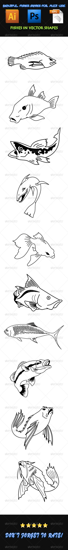 Fish Shapes - Animals Characters