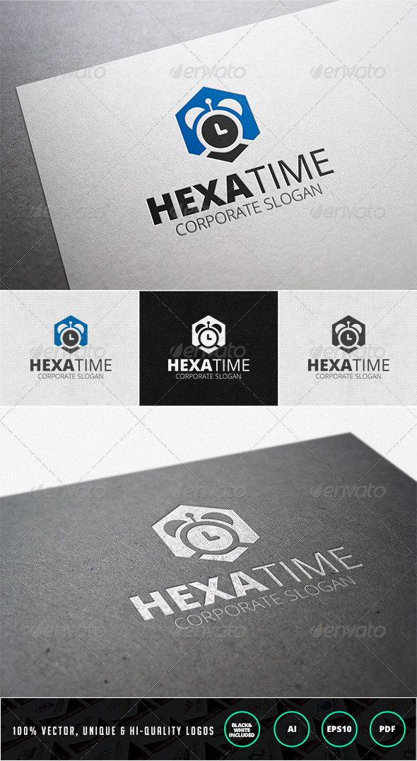Hexa Time Logo Template - Objects Logo Templates