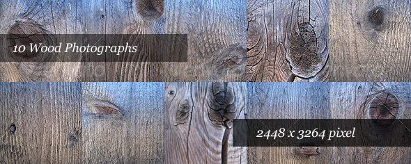 Wood Backgrounds (Pack of 10 Photos) - Backgrounds Graphics