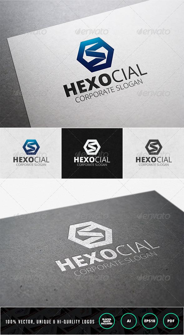 Hexocial Logo Template - Letters Logo Templates
