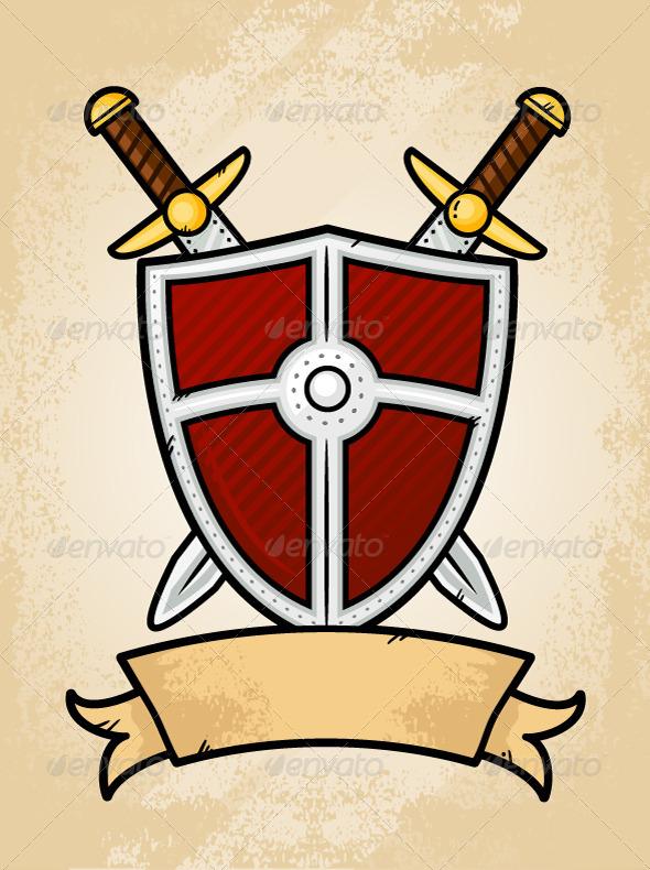 Shield Emblem - Objects Vectors