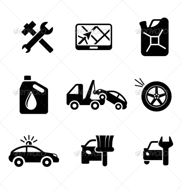Automobile Icons - Industries Business
