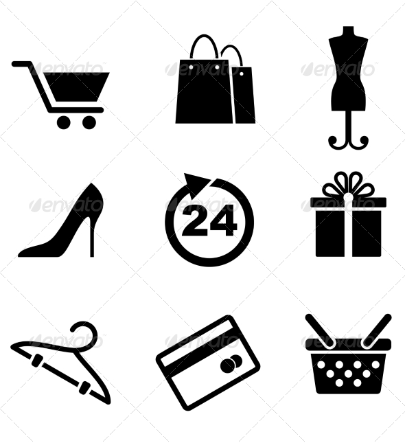 Retail Icons - Retail Commercial / Shopping