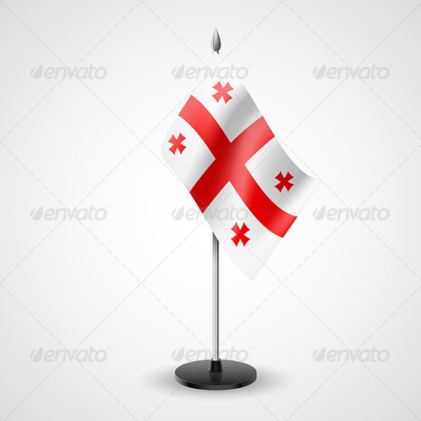 Table Flag of Georgia - Miscellaneous Vectors