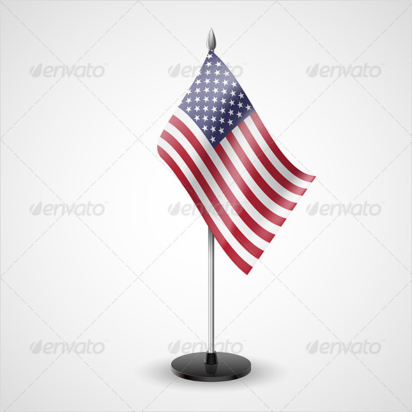 Table Flag of USA - Miscellaneous Vectors